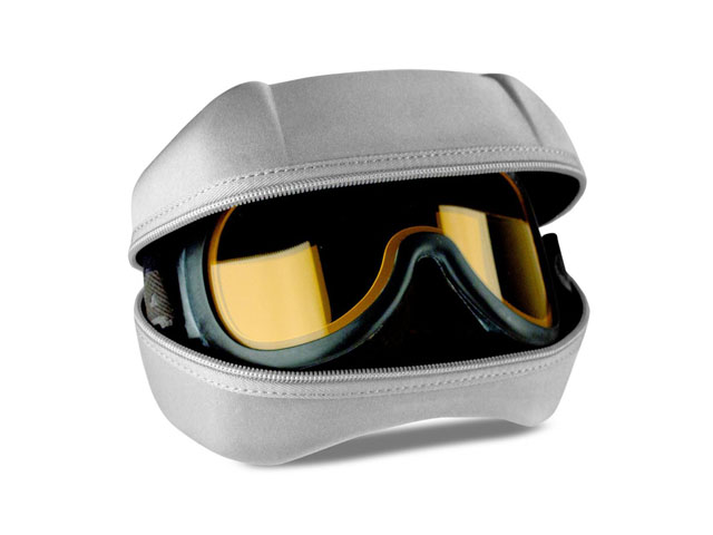 DAKINE ski goggle holding case with fabric color matched zipper custom design available