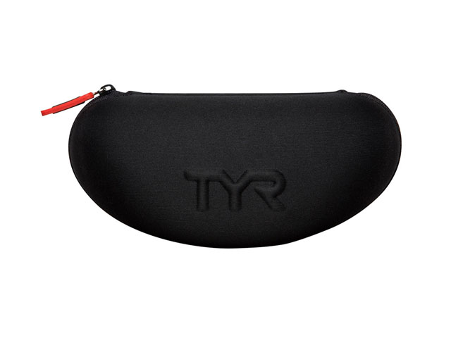 a98c770d17 TYR EVA swimming goggle pouch nylon coated with embossed logo and  convenient drainage holes for quick drying